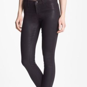 J Brand Super Skinny Jeans Coat Opali